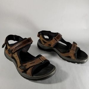 Ecco Brown Leather Outdoor Sandals